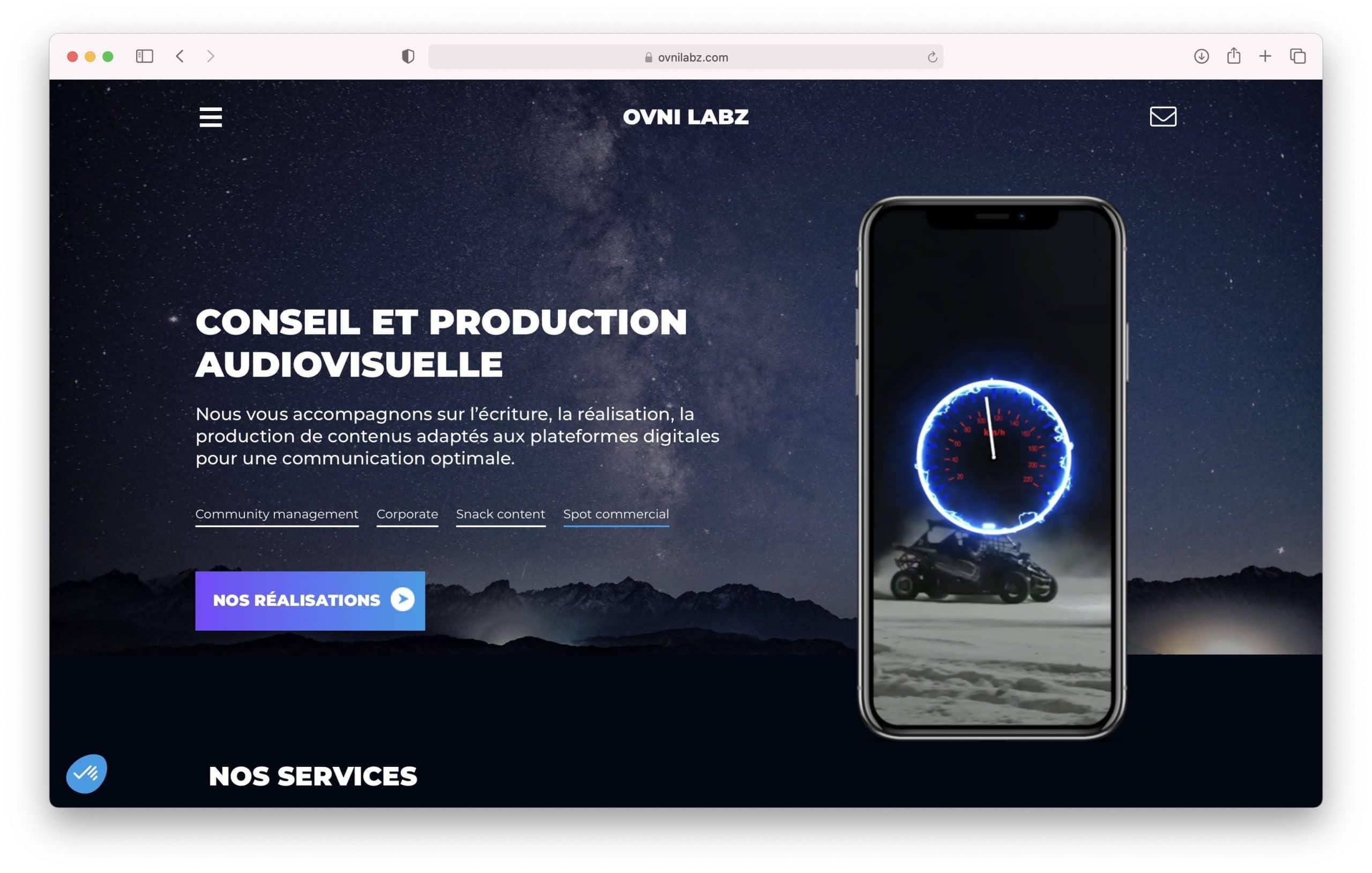 Création de site internet - OVNI-LABZ